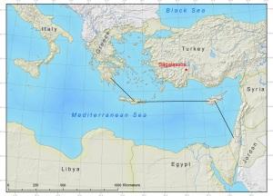 Israel-Cyprus-Crete-Greece