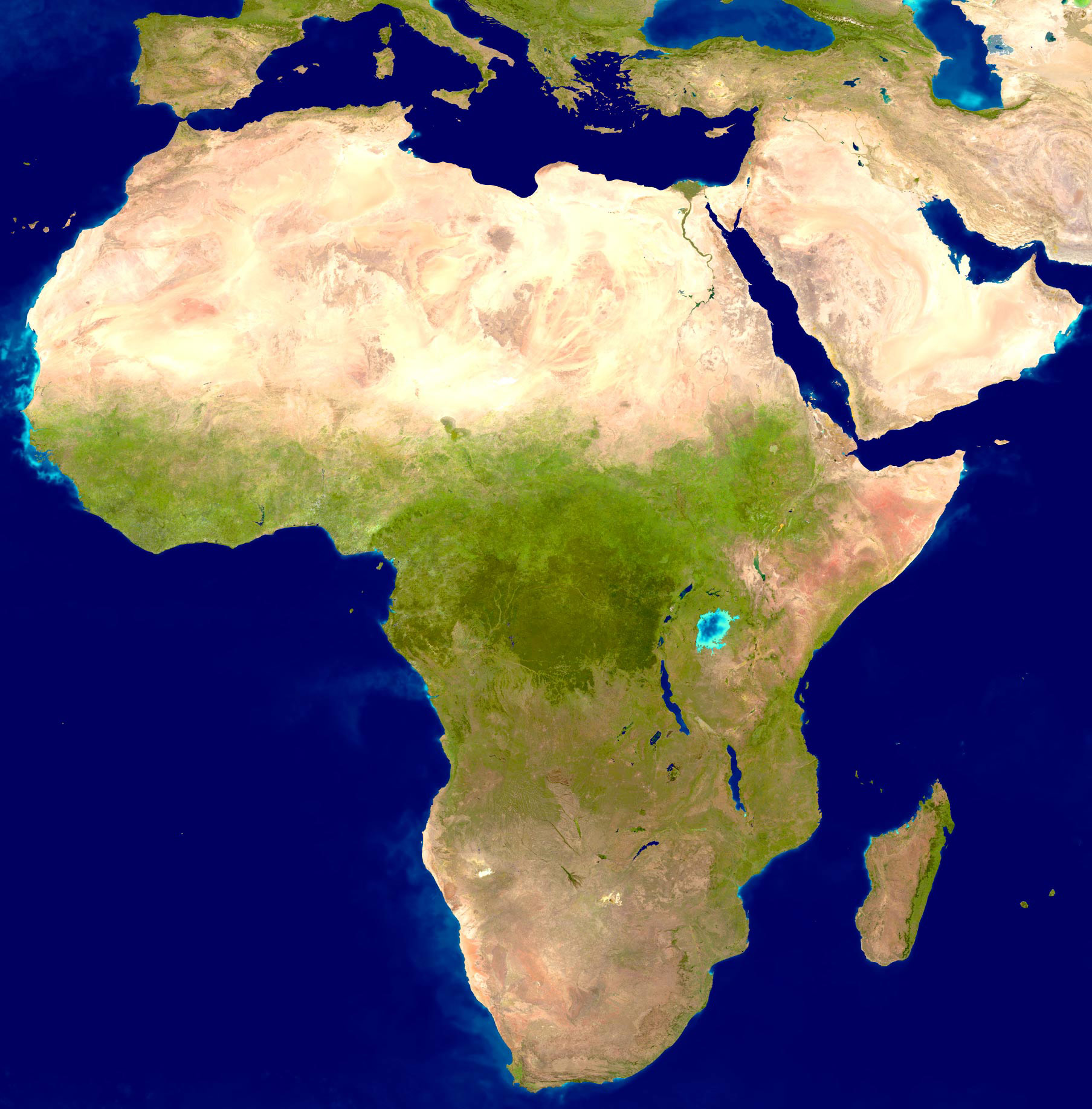 The true size of africa deepresource largedetailedsatellitemapofafrica gumiabroncs Choice Image