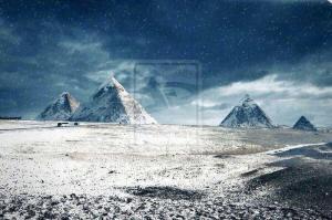 pyramids-snow