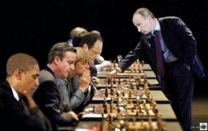 Putin playing chess