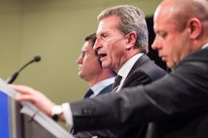 Guenther Oettinger, Alexander Novak, Yuriy Prodan
