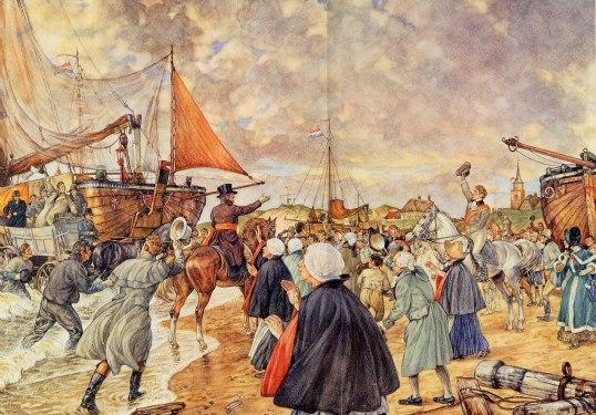 1813 Willem 1 (Fredrik van Oranje) landt op Scheveningen