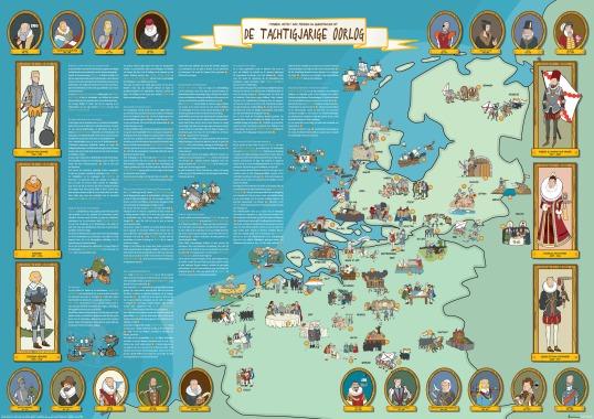 80 jarige oorlog in kaart