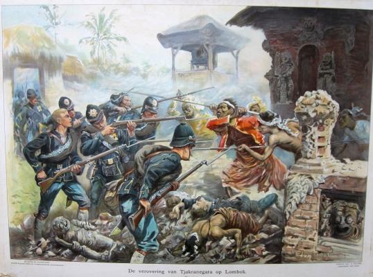 De-verovering-van-Lombok-