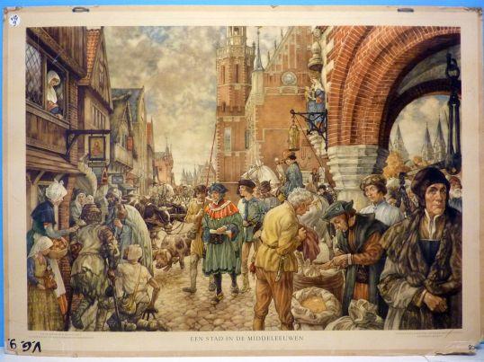 Een-stad-in-de-middeleeuwen
