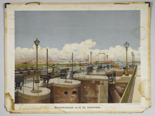 merwedekanaal en IJ bij Amsterdam - 1900-1925