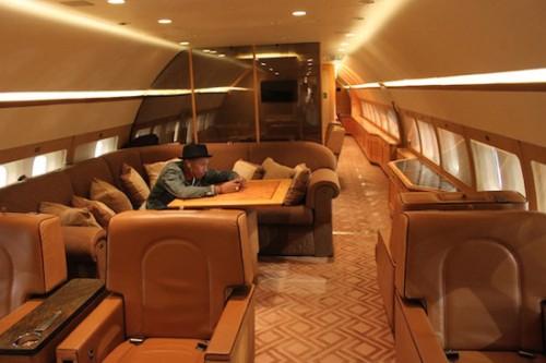 Pharrel-on-A-jet-alone