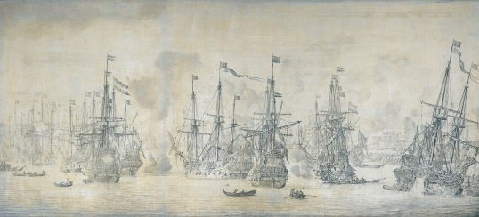 Unsuccessful-English-attack-on-the-VOC-fleet-at-Bergen-12-August-1665