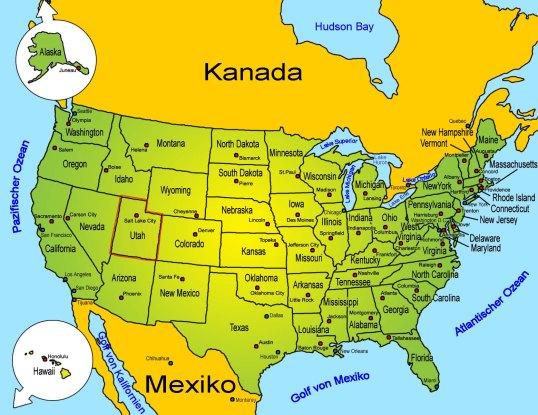 Landkarte_Amerika_USA_Utah